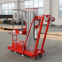 Buy cheap single mast aerial working man platform lift table from wholesalers