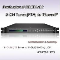 Buy cheap Eight-Channel Professional Receiver DVB-S2 TO IPTV IP streaming output RFR1108_S2 from wholesalers