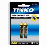 Buy cheap Super Alkaline Batteries, Sized with 1.5 Nominal Voltage, Consumer Dry Battery Type  from wholesalers