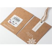 Buy cheap Kaft Paper Garment Tags And Labels , Hanging Price Tag String With Hemp Rope from wholesalers