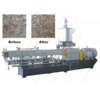 Buy cheap Parallel Twin Screw PET Plastic Flakes / Scraps Granulator Machine With High Tool Steel Screw from wholesalers