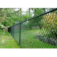 Buy cheap Green Chain Link Mesh Fecing Size 100 ft Chain Link Fence For Construction from wholesalers