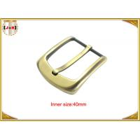 China 40mm Gold Custom Zinc Alloy Metal Pin Belt Buckle / Coat Belt Buckle Replacement on sale