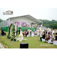 Buy cheap White , Red , Yellow Luxury Wedding Tents Decoration With PVC Roof Cover For Wedding Party from wholesalers