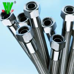 Buy cheap 304 Stainless steel garden hose flange flexible Teflon hose from wholesalers