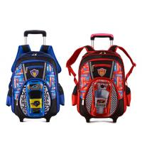 Buy cheap Large School Roller Backpack 16 Trolley Rolling Bag Black from wholesalers