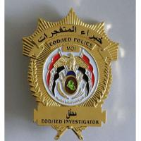 Buy cheap High quality metal custom made police badges WITH engraved Technique from wholesalers