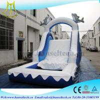 Hansel China PVC material kids jumping castle bouner water slide outdoor play equipment Manufactures