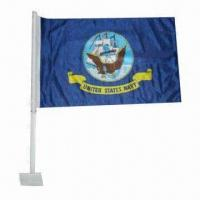 Buy cheap Car Flag with 2 Sides Printing, Made of 110g/m from wholesalers