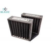 """Buy cheap 1"""" 2"""" 4"""" Available Pleated Panel Air Filters Black for Odor / Gas Filtration from wholesalers"""