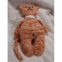 Buy cheap Handmade, hand knit stuffed CAT toy animal 18cm from wholesalers