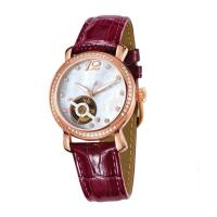 Buy cheap 5 ATM Water Resistant Mechanical Wrist Watch / Ladies Automatic Watches With Genuine Leather from wholesalers