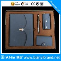 Buy cheap Customized pu leather notebook, pen, card holders corporate gift set from wholesalers