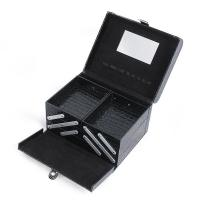 Wholesale Leather Tool Case Custom  Black Jewellery Box Home Makeup Organizer from china suppliers