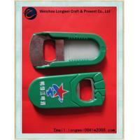 Green OEM customized beer bottle opener with logo printed 58mm x 35mm x 6mm Manufactures