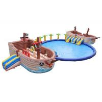 Buy cheap Pirate Ship Commercial Inflatable Water Park 0.9mm PVC Tarpaulin Made from wholesalers