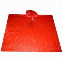 Buy cheap 2013 Fashionable Adult/Kids' Poncho/Hooded Plastic Poncho, Easy to Carry from wholesalers