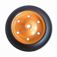 Buy cheap 13-inch Heavy-duty Solid Rubber Wheel for Wheelbarrow, Tool Cart and Machines from wholesalers