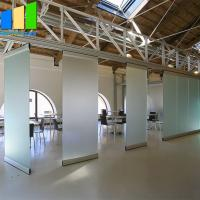 Buy cheap Collapsible Office Folding Partition Walls Glass Folding Door 12mm Frameless Operable Glass Partition System from wholesalers