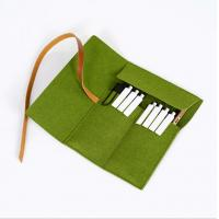 Buy cheap Felt Pencil Organizer Pouch/Zipper Pouch Grass Green Durable For Students from wholesalers