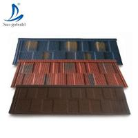 Buy cheap Solar Shingle/Roofing sheets price in Kerala photo/stone coated steel roofing tiles in Qatar from wholesalers
