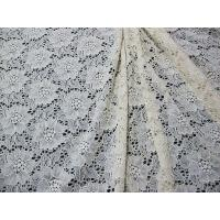 Buy cheap Ivory Elastic Flower Lace Fabric / Crochet Elastic Fabric Water Soluble CY-DK0013 from wholesalers