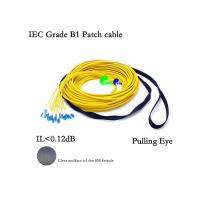 Buy cheap Pre Terminated Fiber Optic Patch Cables 24F SM 9 / 125 LC - LC With Pulling Eye / Pulling Hook from wholesalers