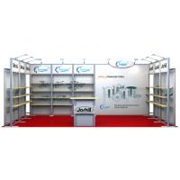 Modular 10x20 Trade Show Booth , Aluminum Exhibition Stand Display Manufactures