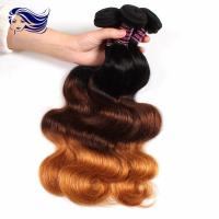 Buy cheap Peruvian Multi Color Hair Extensions Clips Full Ends Double Drawn from wholesalers