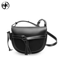 Buy cheap Multi color designer crossbody bag factory new design real leather bag lady leather saddle bag from wholesalers
