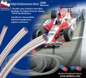 Premium Quality race Car Braided Hose,  AN SIZES braided hose,  Marine engine performance hose