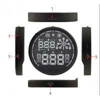 Buy cheap Universal Car HUD Head Up Display OBDII KMH / MPH Overspeed  Alarm from wholesalers