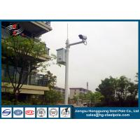 Buy cheap H10m Hot Dip Galvanized CCTV Camera Pole / Surveillance Camera Poles With Painting Craft from wholesalers