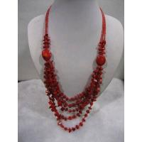 Buy cheap Red Coral Necklace.The Pearls Is the Natural Growth. from wholesalers