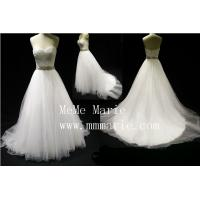 Sweetheart effel rhinestone sash wedding dress BYB-14592 Manufactures