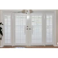 Buy cheap 100% basswood french door shutters for door and windows with handle from wholesalers