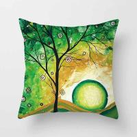 Buy cheap Throw Pillow Covers Hippy Elephant Tree of Life Cushion Cover Throw Floral Printed Pillow Case 18 X 18 Inch Pillowcase from wholesalers