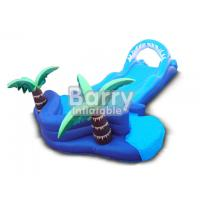 Buy cheap Jungle Lawn Inflatable Water Slides Coconut Tree Inflatable Slip N Slide For Kids from wholesalers