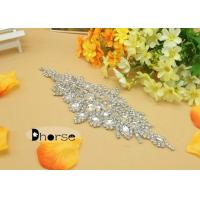Wedding Dress Rhinestone Beaded Applique Manufactures