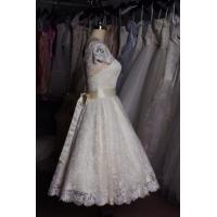 Buy cheap Girls sexy Mermaid Backless Sweetheart Lace Wedding Dress with chapel train from wholesalers