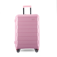 Wholesale Customized Logo 210D Pink PP Trolley Luggage from china suppliers