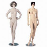 Buy cheap Female Mannequin, Available with/without Wig, All Heads Shown are Available for All Positions from wholesalers