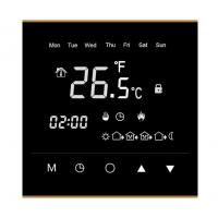 Buy cheap IP20 Wifi Room Thermostat , Touch Screen Room Thermostat 86mm X 86mm X11mm from wholesalers