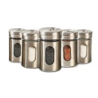 Buy cheap Cylinder Kitchenware Glass Storage Jars Spice Metal Jar With Shaker Resturant from wholesalers