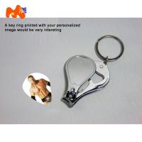 Wholesale Sublimation Nailnippers Personalized Metal Keychains With Name And Logo DIY Gift from china suppliers