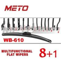 Buy cheap Auto Flat Wiper Blade WB-610 (METO Multifunctional Type) from wholesalers