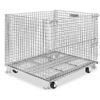 Buy cheap 500 - 1000kg Metal Wire Container Storage Cages For Material Handling from wholesalers