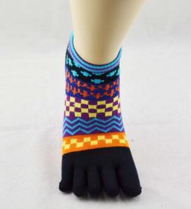 China Winter Spandex / Cotton Five Toe Socks , Pretty Toe Socks For Women on sale