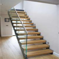 Buy cheap Double U Channel Stringer Modern Straight Staircase Made in China from wholesalers