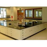 China Floor Mounted Dental Laboratory Bench Epoxy Resin Coating Cabinet With Gas Fitting on sale